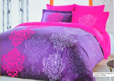 K-T SATIN DUVET COVER SET HERNES